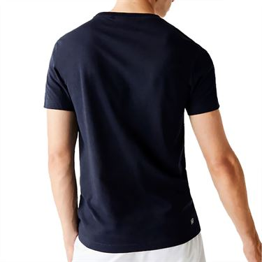 Lacoste Tee Mens Navy/Coriander White TH7541 5QS