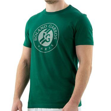Lacoste SPORT French Open Edition Logo Print T-Shirt - Bottle Green/White