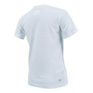 Lacoste Boys Novak Tech Tee - White/Navy Blue