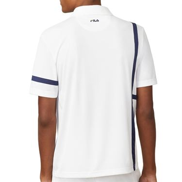 Fila PLR Singles Polo Mens White TM016282 100