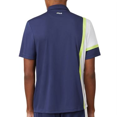 Fila PLR Polo Mens Blueprint/White/Acid Lime TM016283 919