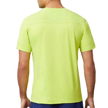 Fila Essentials Heathered Mesh Crew Shirt Mens Acid Lime/Blueprint/White TM016427 368