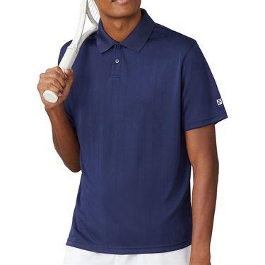 Fila Essentials Drop Needle Polo Mens Peacoat TM016472 412