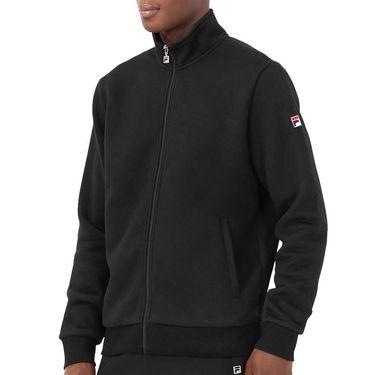Fila Match Fleece Full Zip Jacket Mens Black TM016942 001