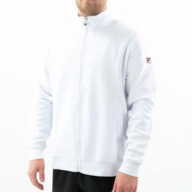 Fila Match Fleece Full Zip Jacket Mens White TM016942 100