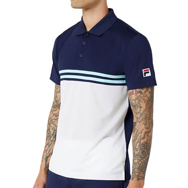 Fila Legends Rally Polo Shirt Mens Navy/White/Paradise TM036838 412