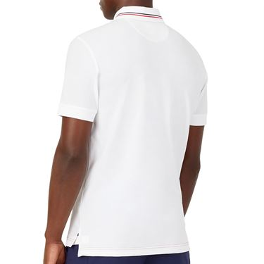 Fila Heritage Tennis Jaquard Polo Shirt Mens White TM036845 100