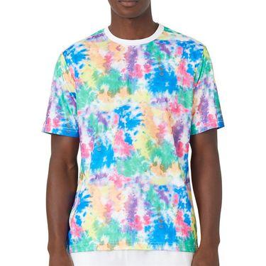 Fila Top Spin Printed Crew Shirt Mens Multi/White TM038856 203