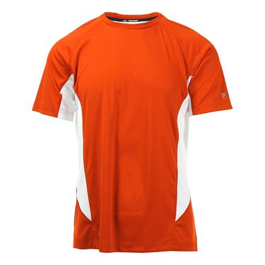 Fila Core Color Blocked Crew - Team Orange
