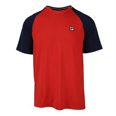 Fila Heritage Textured Crew - Chinese Red/Navy