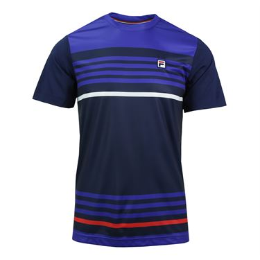 Fila Heritage Stripe Crew - Navy/Chinese Red/White