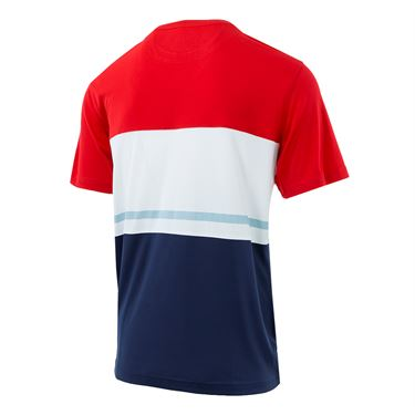 Fila Heritage Colorblock Crew - Red/White/Navy