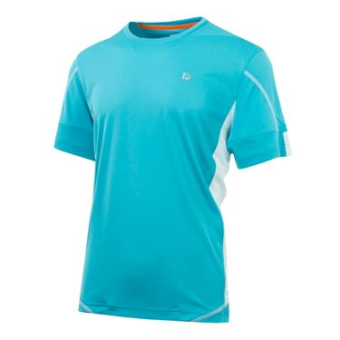 Fila Advantage Colorblocked Crew - Maui Blue/White/Red Orange