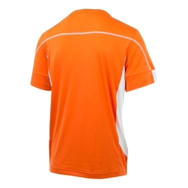 Fila Advantage Colorblocked Crew - Red Orange/White