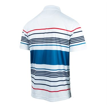 Fila Heritage Striped Polo - White/Turkish Tile/Navy