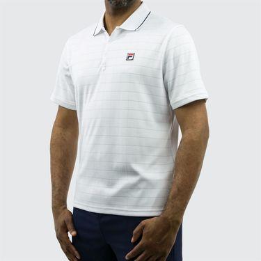 Fila Heritage Drop Needle Polo - White/Navy