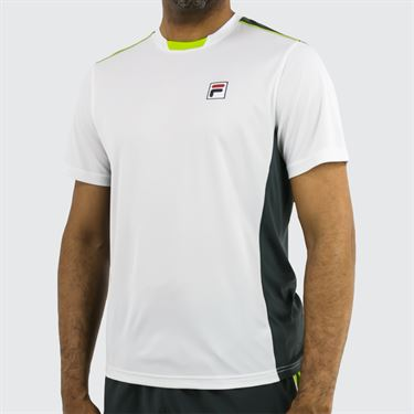Fila Legend Colorblocked Crew - White/Ebony/Lime Green