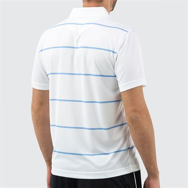 Fila Set Point Striped Polo Mens White/Little Boy Blue TM191682 100
