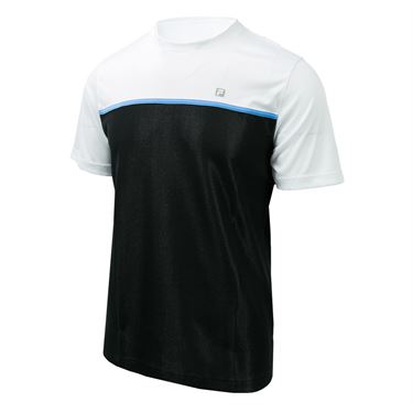 Fila Set Point Colorblocked Crew - Black/White