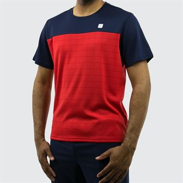 Fila Heritage Grid Crew - Navy/Chinese Red