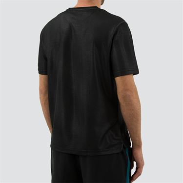 Fila Set Point Embossed Crew Mens Black TM191946 001