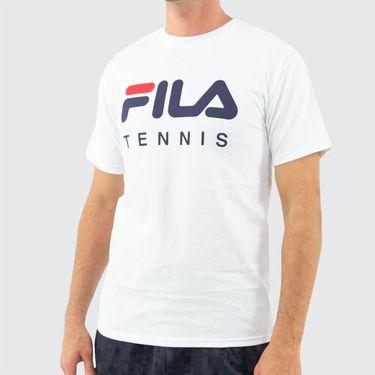 Fila Tennis Tee Shirt Mens White TM833813 100