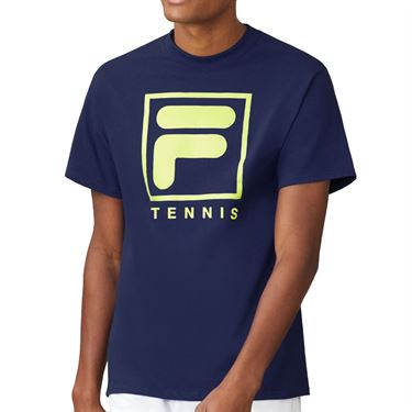 Fila F Box Tennis Tee - Blueprint/White/Acid Lime