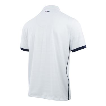 Fila Heritage Striped Polo - White/Navy