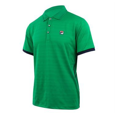 Fila Heritage Striped Polo - Bright Green/Navy