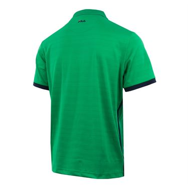 Fila Heritage Striped Polo - Bright Green/Navy