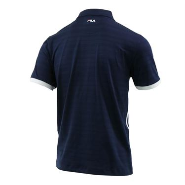 Fila Heritage Striped Polo - Navy/White