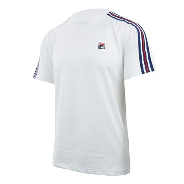 Fila Heritage Striped Crew - White