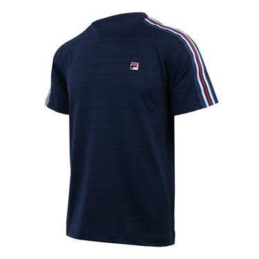 Fila Heritage Striped Crew - Navy