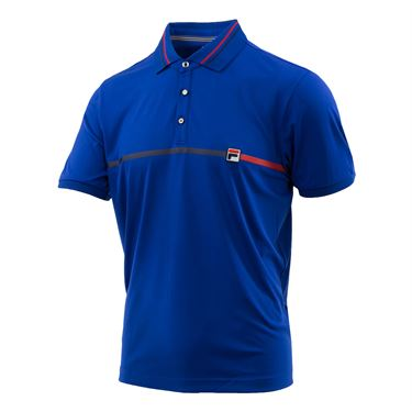 Fila Heritage Polo - Surf the Web/Navy/Chinese Red