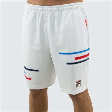 Fila PLR Short - White/Peacoat/Brilliant Blue/Chinese Red