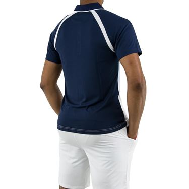 Fila Legend Ombre Polo Shirt, Navy/White/Placid Blue