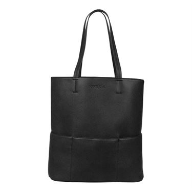 Sports Chic Pebble Grain Tote - Black Moon
