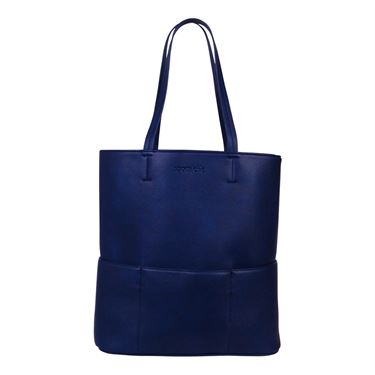 Sports Chic Pebble Grain Tote - Midnight