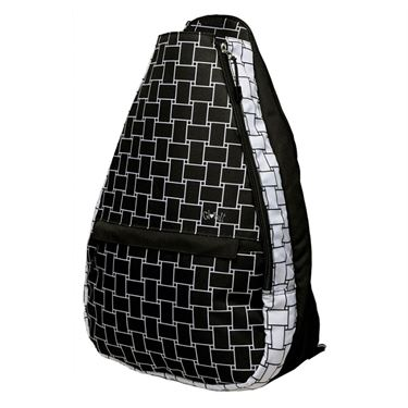 Glove It Tennis Backpack - Basketweave Black/White