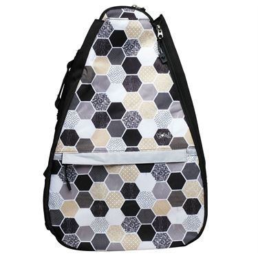 Glove It Tennis Backpack - Hexy Black/Tan