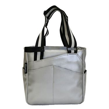 Maggie Mather Mini T Tote Pickleball Bag - Silver