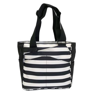 Maggie Mather Mini T Tote Pickleball Bag - Black/White
