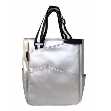 Maggie Mather Tennis Tote Bag - Silver