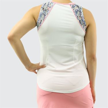 Jofit Sherry Shoulder Panel Tennis Cutaway - Sherry Print
