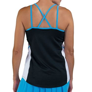 Jofit Key West Advantage Tennis Tank Womens Black/White TT099 BNW