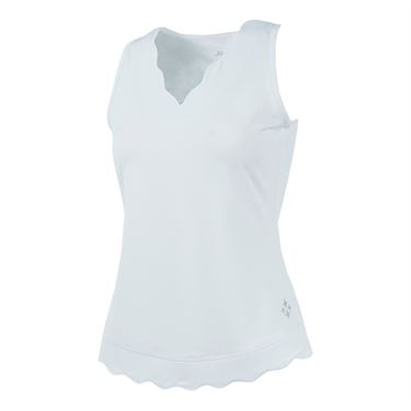 Jofit Daiquiri Scallop Tank - White