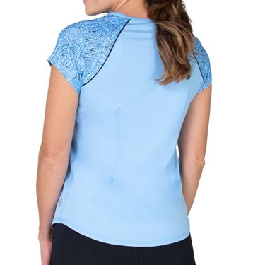 Jofit Baileys Raglan Tee Shirt Womens Ice Blue TT187 ICE