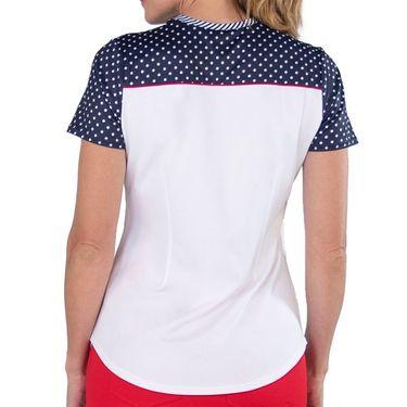 Jofit Cape May Challenger Tee Shirt Womens White Jacquard TT193 WHT