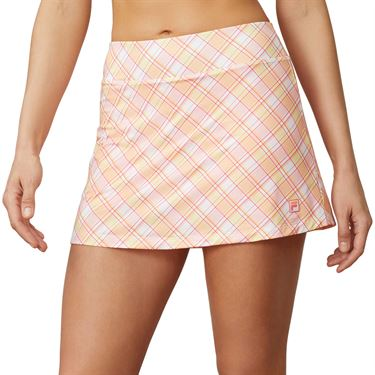 Fila Mad For Plaid Printed A Line Skirt Womens Plaid/Calypso Coral TW015544 101