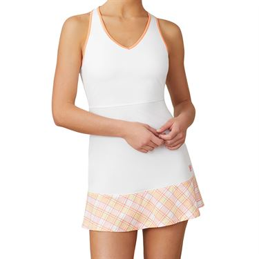Fila Mad For Plaid Dress Womens White/Plaid/Melon TW015548 100